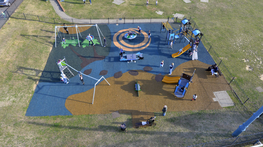 patterned play surfaces