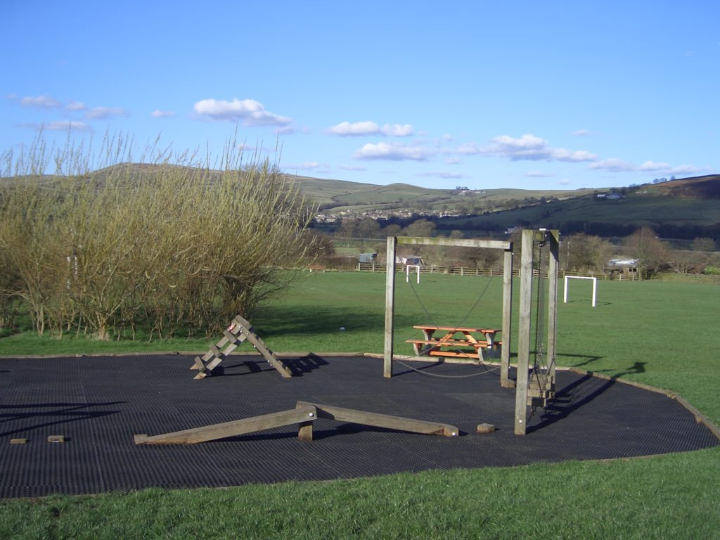 fire retardant play surface