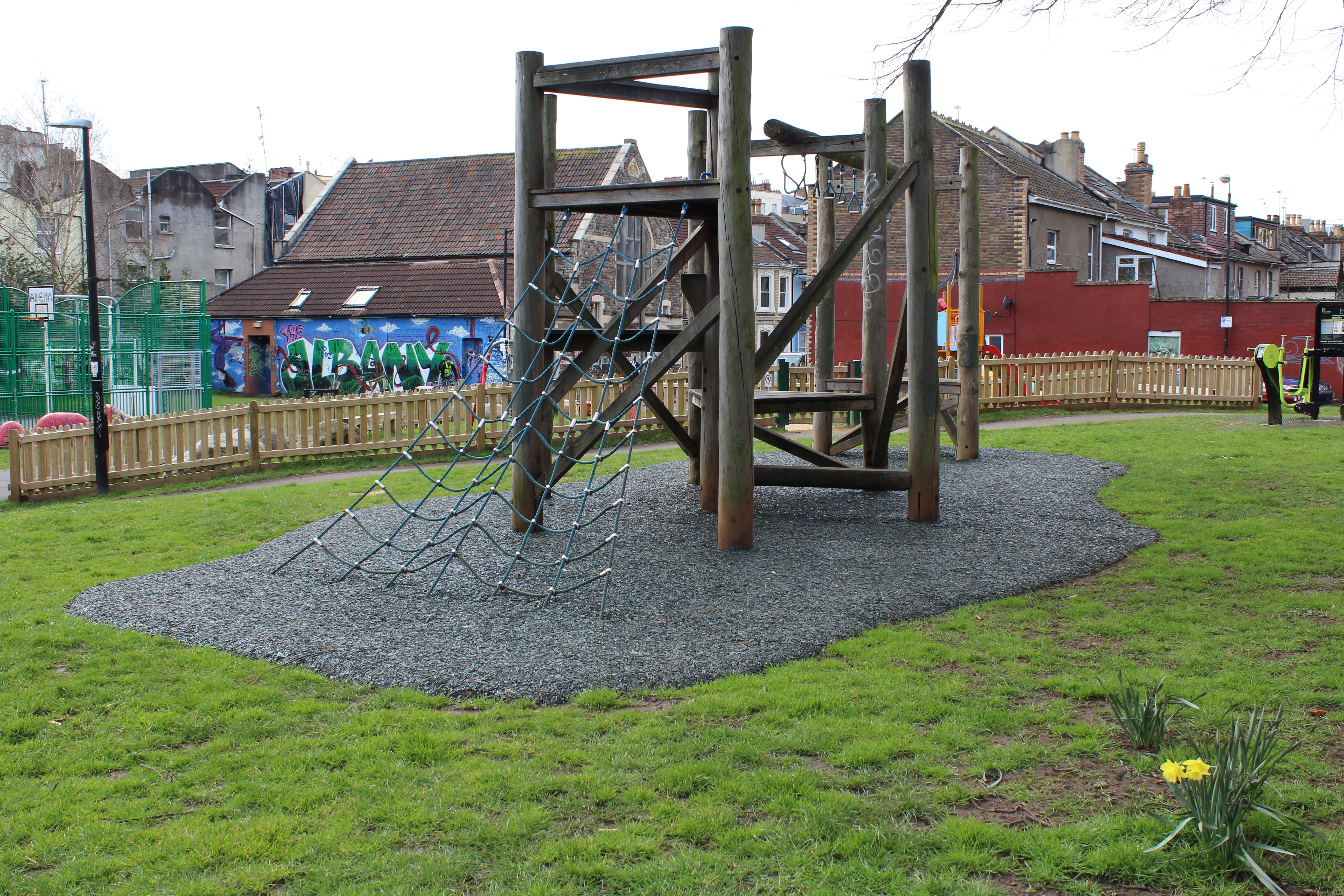 new surfacing for existing play equipment