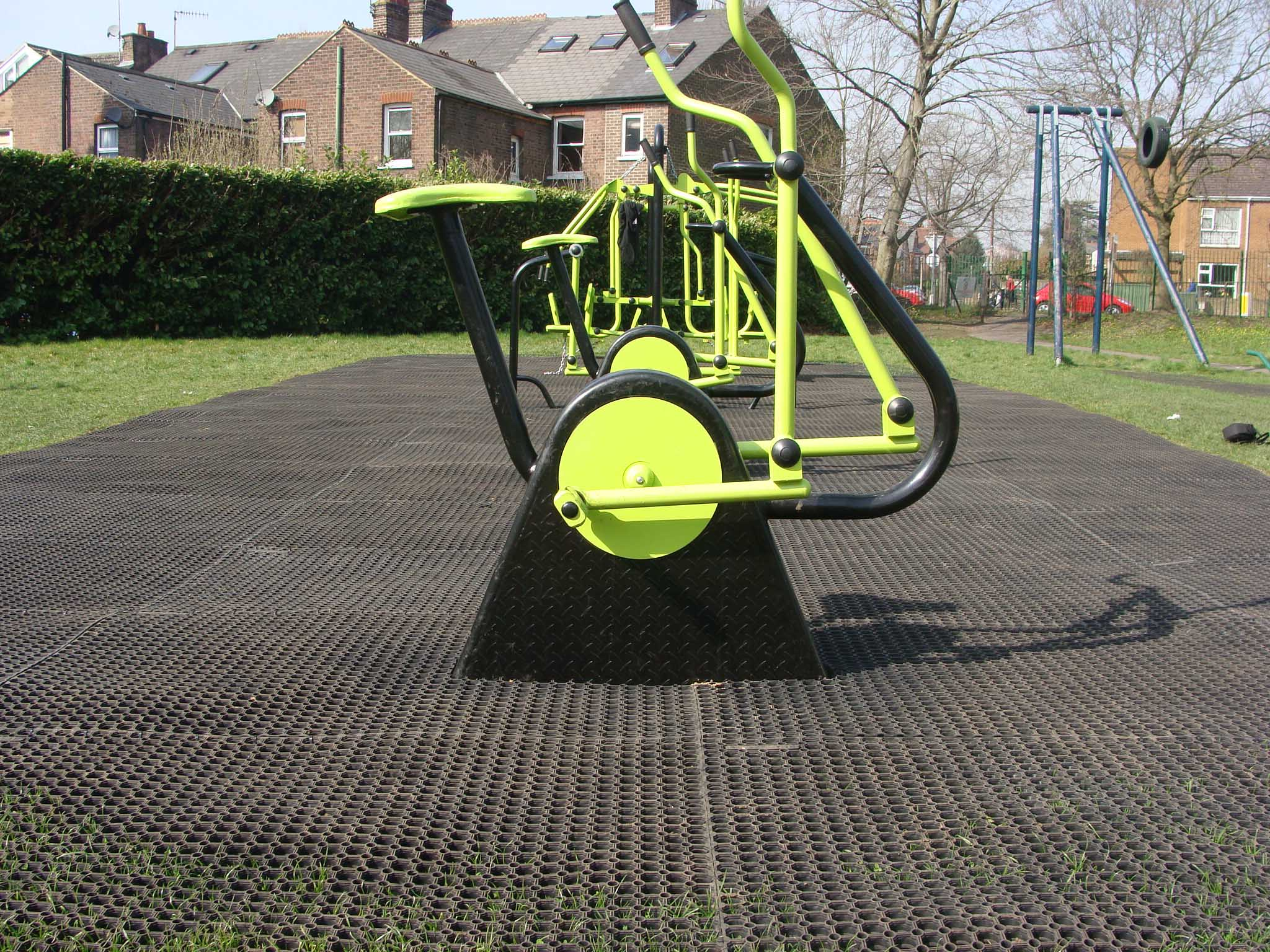 EcoSmart grass matting and FireSmart playground flooring