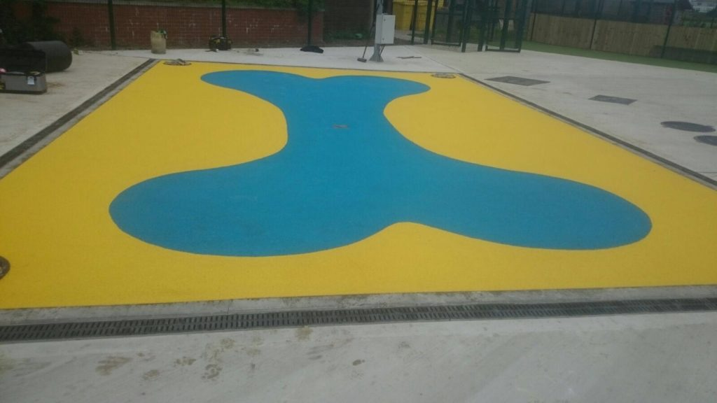 safety surfacing poured in place