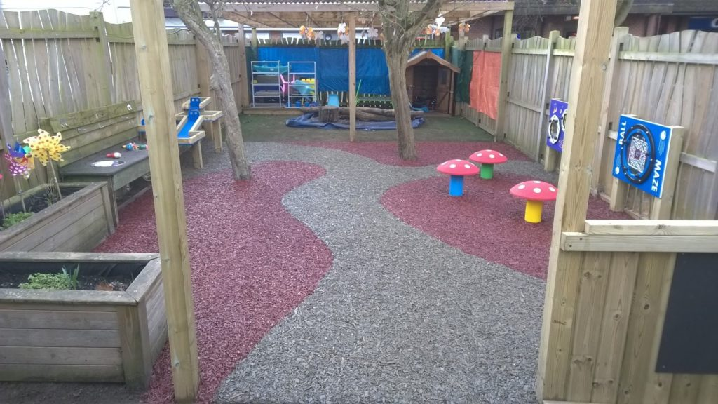 rubber mulch for a nursery