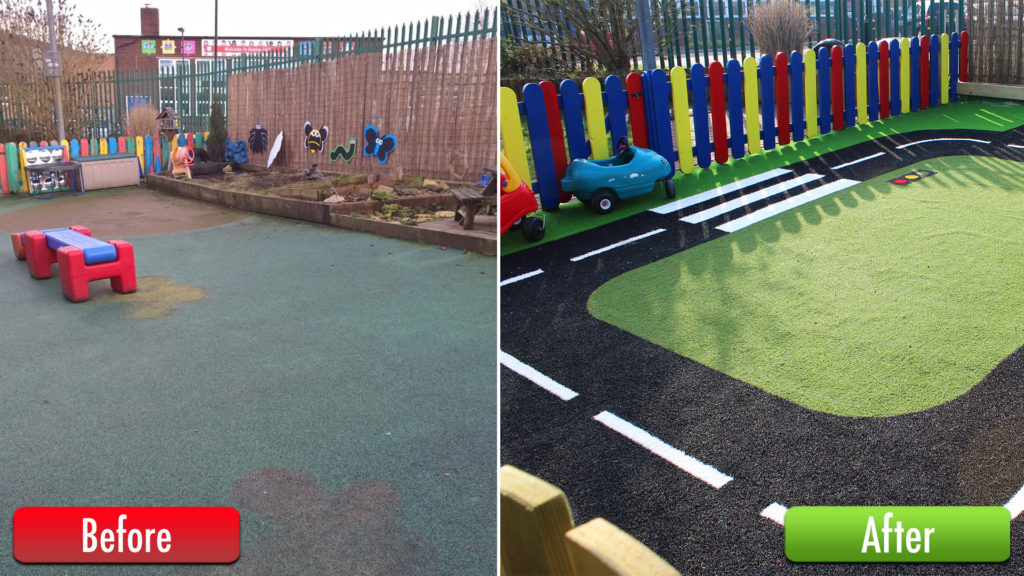 New Playground Surfaces for Sure Start